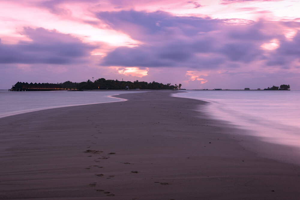 Landscape Photography of sunrise at beach in Maldives