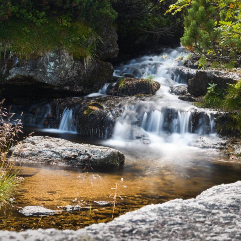 Pancavsky Waterfall shot from Krkonose Mountains