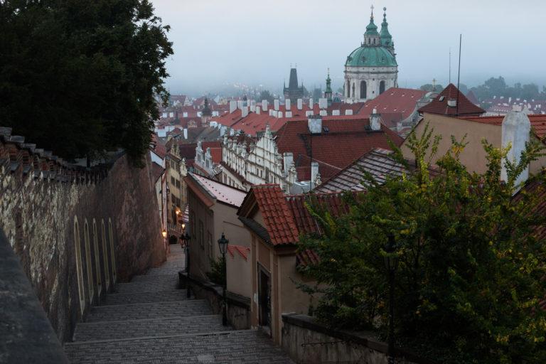 Foggy Prague before Sunrise