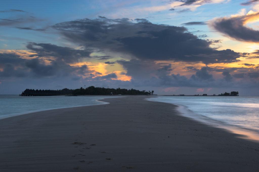 Landscape Photography of sunrise at Kuredu beach in Maldives