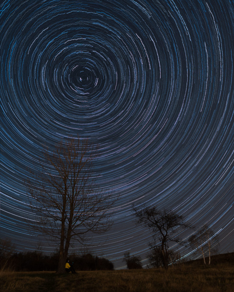 Night Sky in Prague - Star Trails