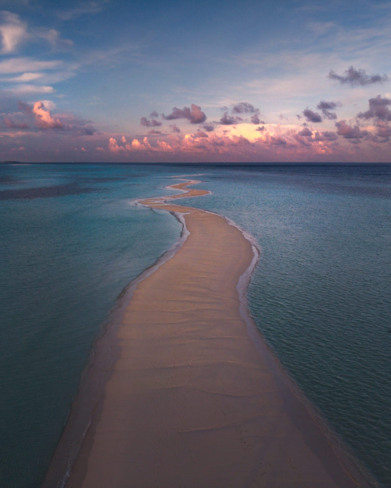 Maldives - Long Beach at Sunrise
