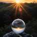 A Crystal Ball during sunset