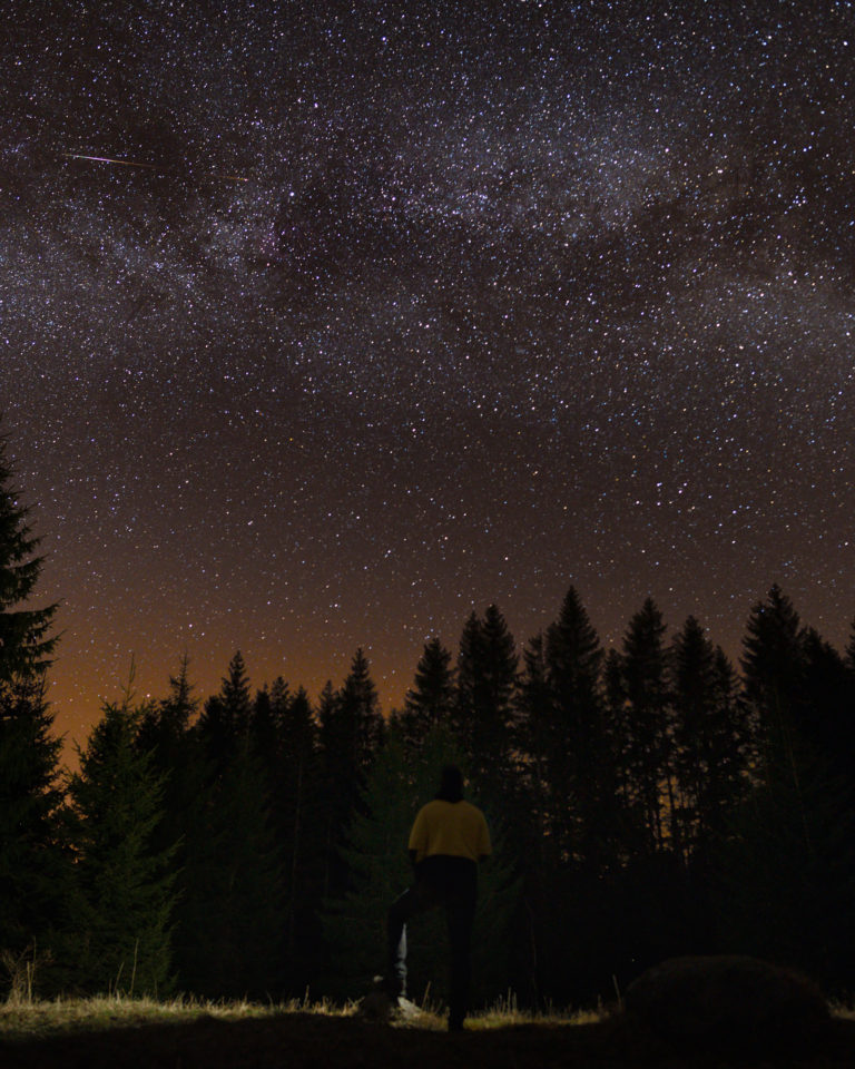 Milky Way View in the Bohemain Forest (Sumava)