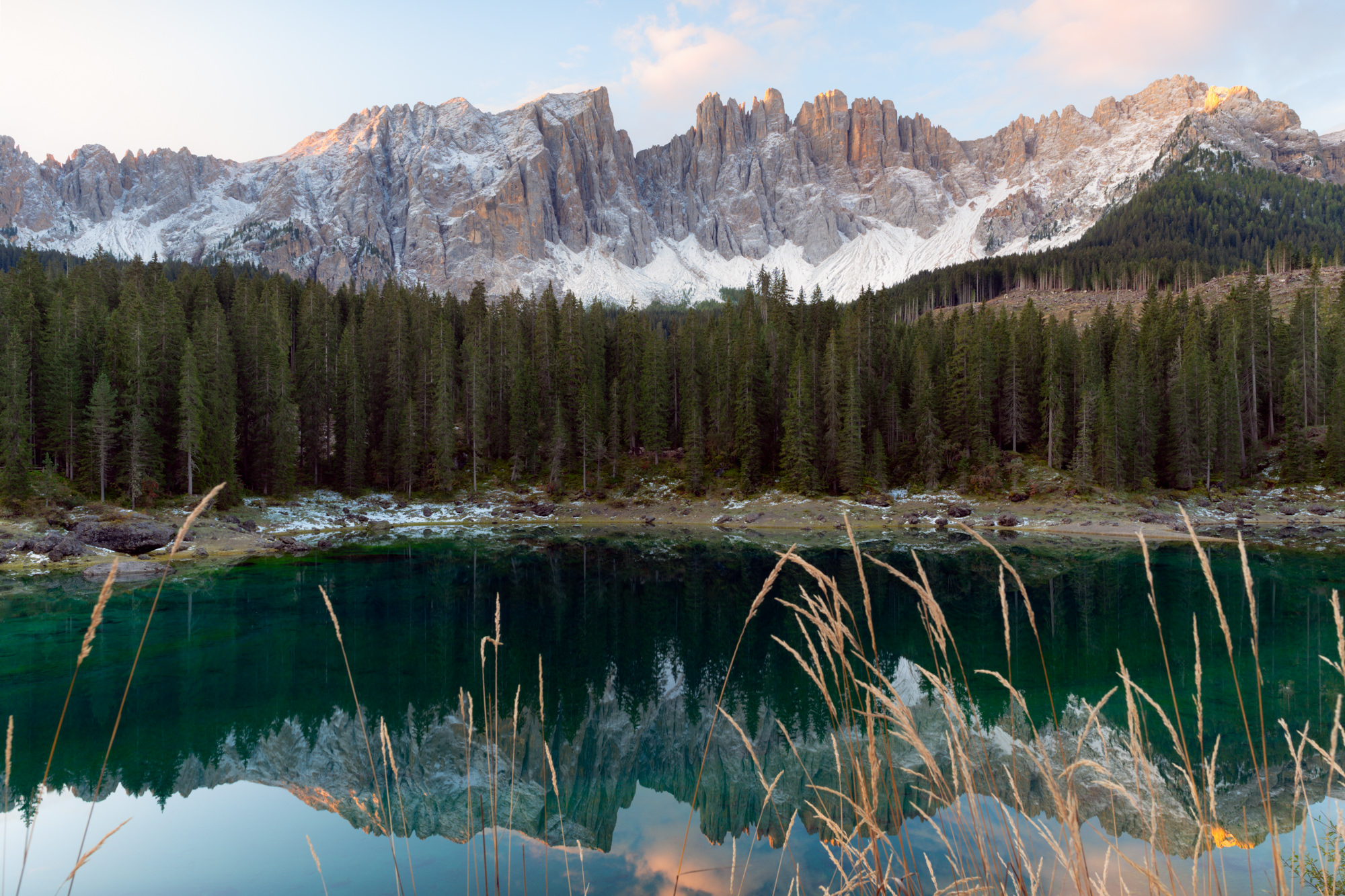 Sunrise at Lago di Carezza